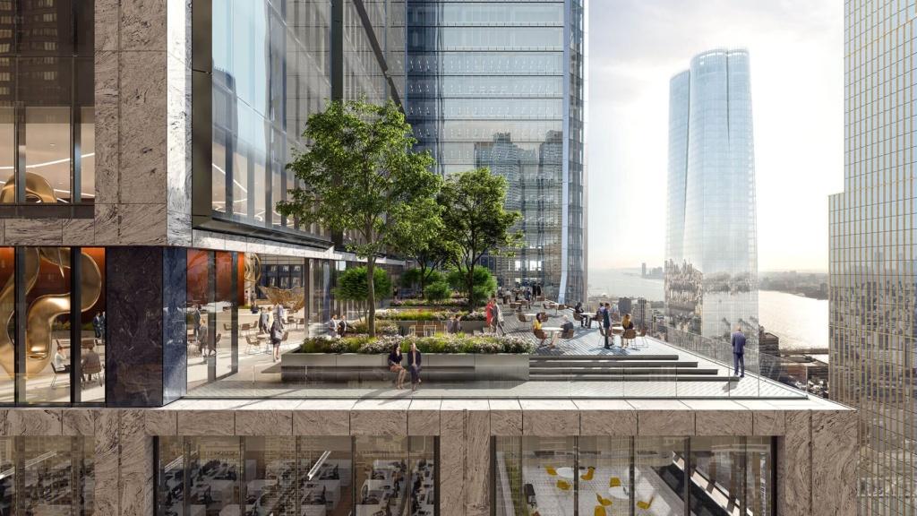 Landscaped Terrace at 50 Hudson Yards