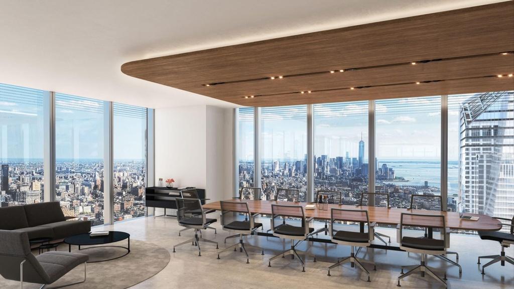 Interior shot of boardroom at 50 Hudson Yards