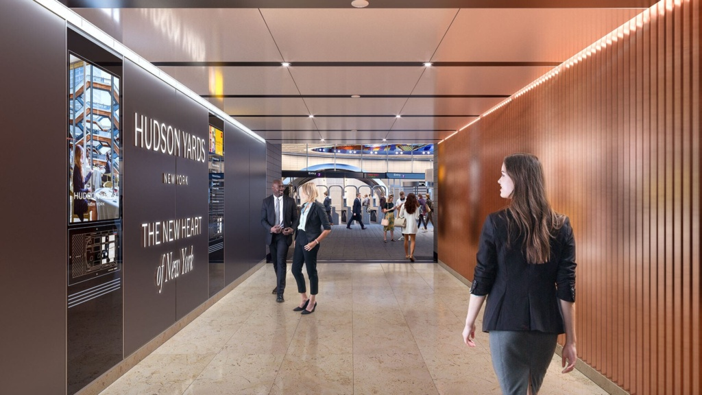 Connection between Hudson Yards and the subway station